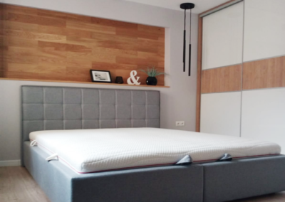 Łóżko szare Bona II