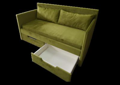 Łóżko zielone 1