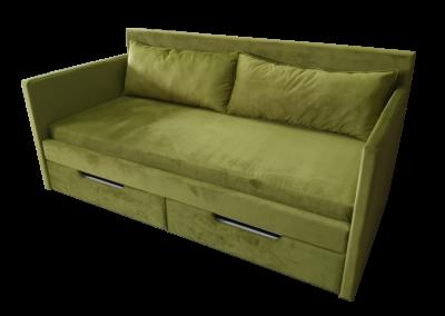 Łóżko zielone 2