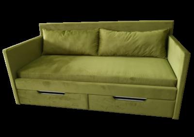 Łóżko zielone 3